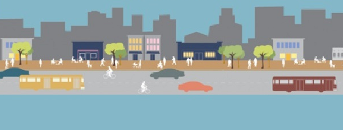 streetscape made for all users